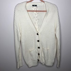 URBAN OUTFITTERS CARDIGAN W/ BRAIDED BACK. BUTTONS